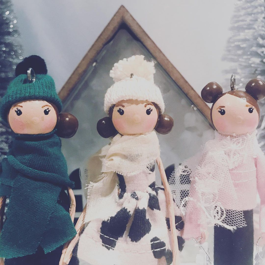 """Laurie C on Instagram: """"I have to say I am in LOVE! These little girls came out so adorable! Might have to try these styles again! #custom #handmadegifts…"""""""