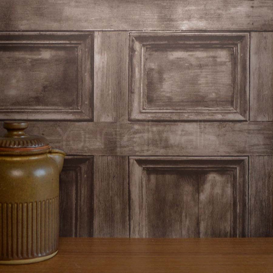 Details About Rushmore Wood Panel Effect Wallpaper Brown Wood