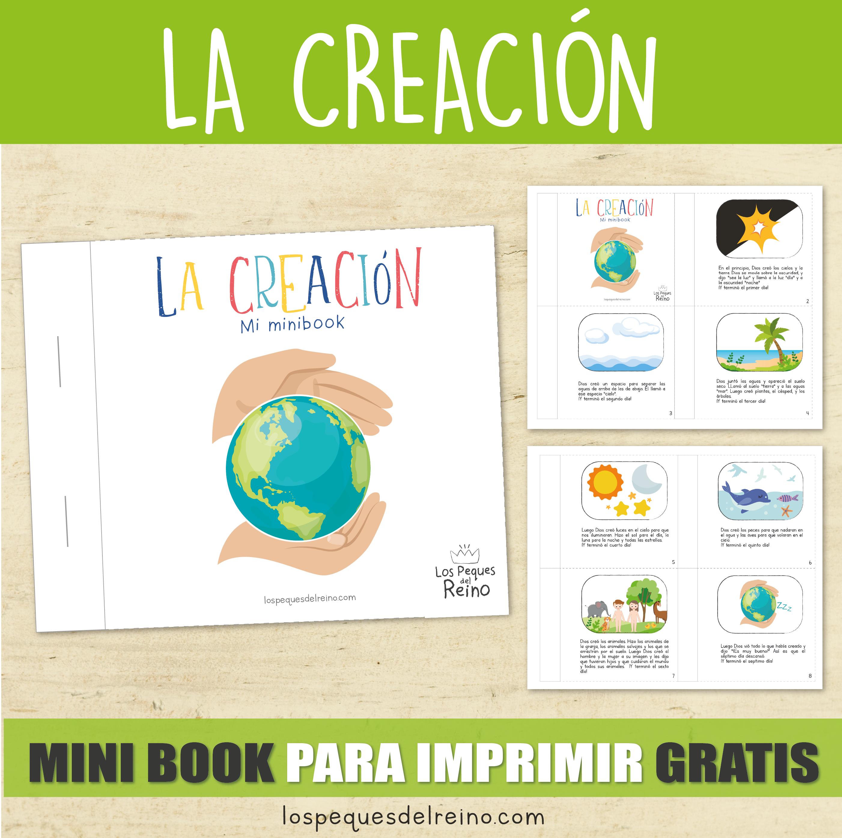 La Creación Mini Book Historia Bíblica Descargable Gratis Mini Libros Animales Para Imprimir La Creacion