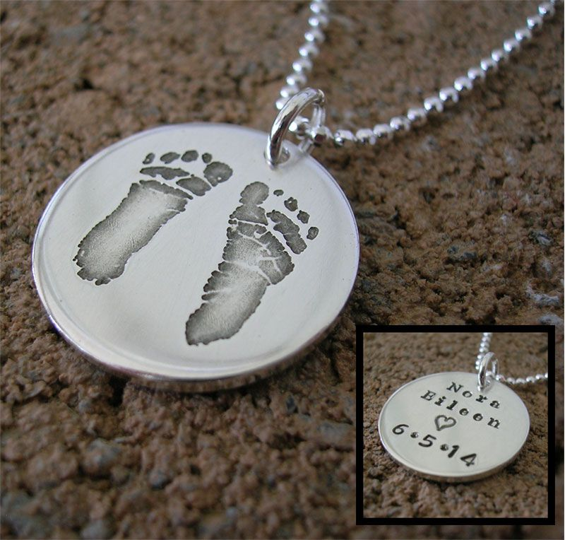 Baby S Actual Footprint Necklace Jewelry For Moms