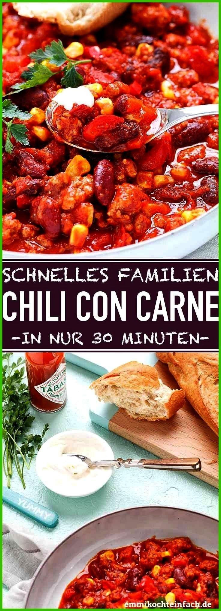 con Carne – ideal für Familien Rezepte RezepteSchnelles Chili con Carne – ideal für Familien