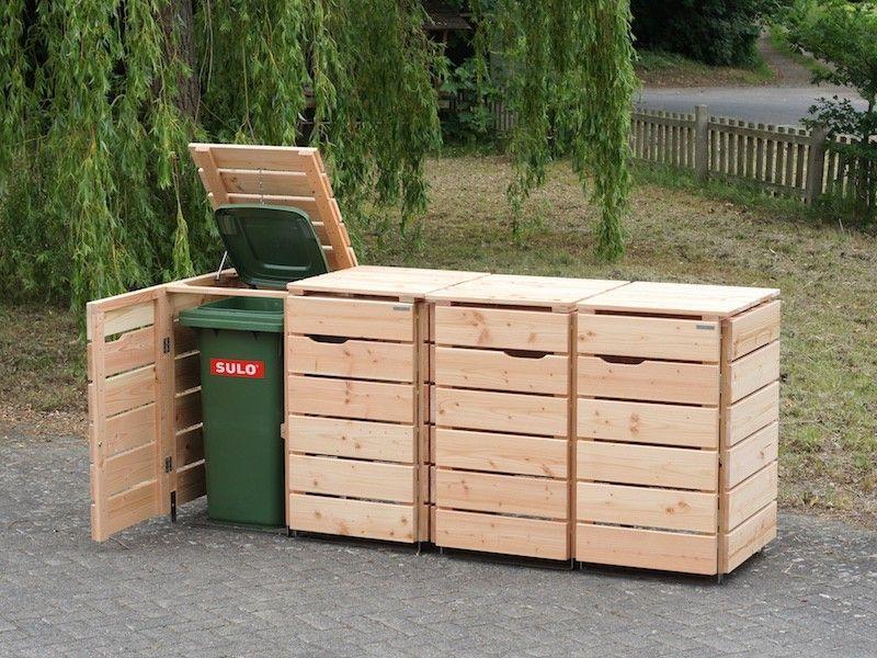 Schuppen Für Mülltonnen 4er mülltonnenbox holz 120 liter in 2018 | 4er mülltonnenbox holz