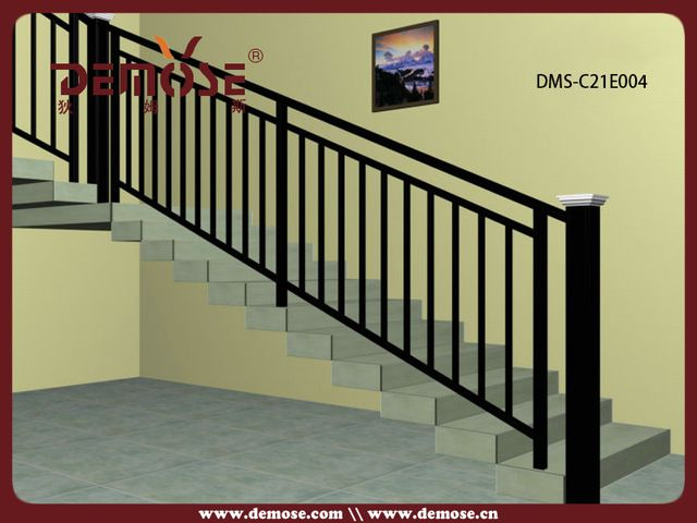 Attractive Outdoor Metal Stair Railing / Prefab Metal Stair Railing, Steel .