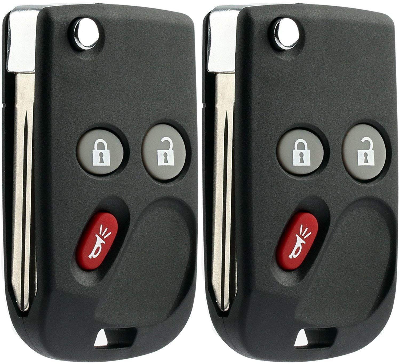 Keylessoption Keyless Entry Remote Fob Car Flip Ignition Key Replacement For Trailblazer Envoy Pack Of 2 Price