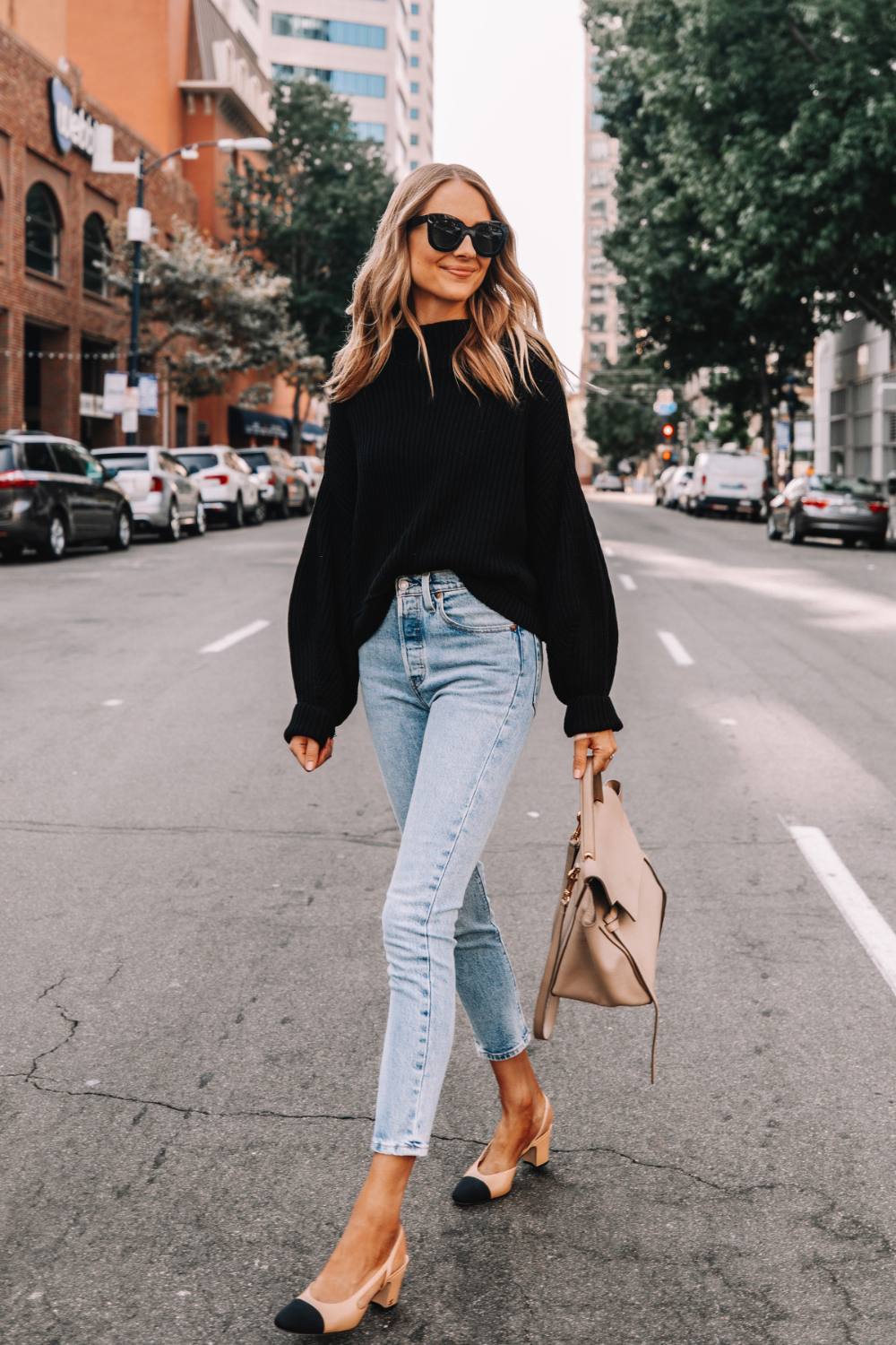 Oversized Free People Sweater Outfit