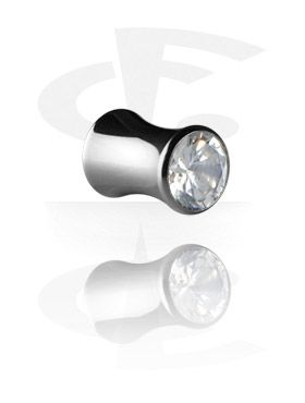 Jeweled Flared Tube [Surgical Steel 316L]