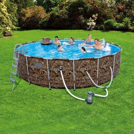 Realtree 18 X 48 Inch Steel Pro Frame Pool Set With