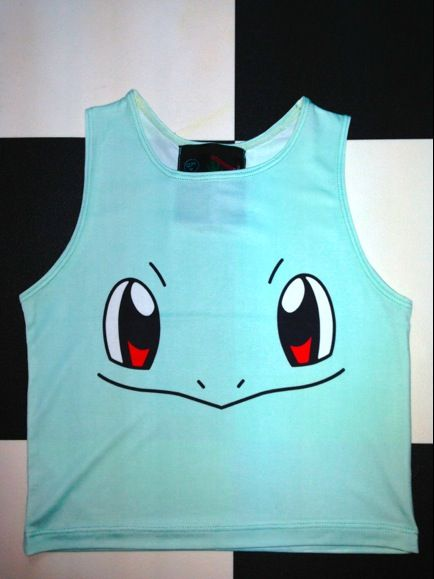 SWEET LORD O'MIGHTY! SQUIRTLE CROP TANK