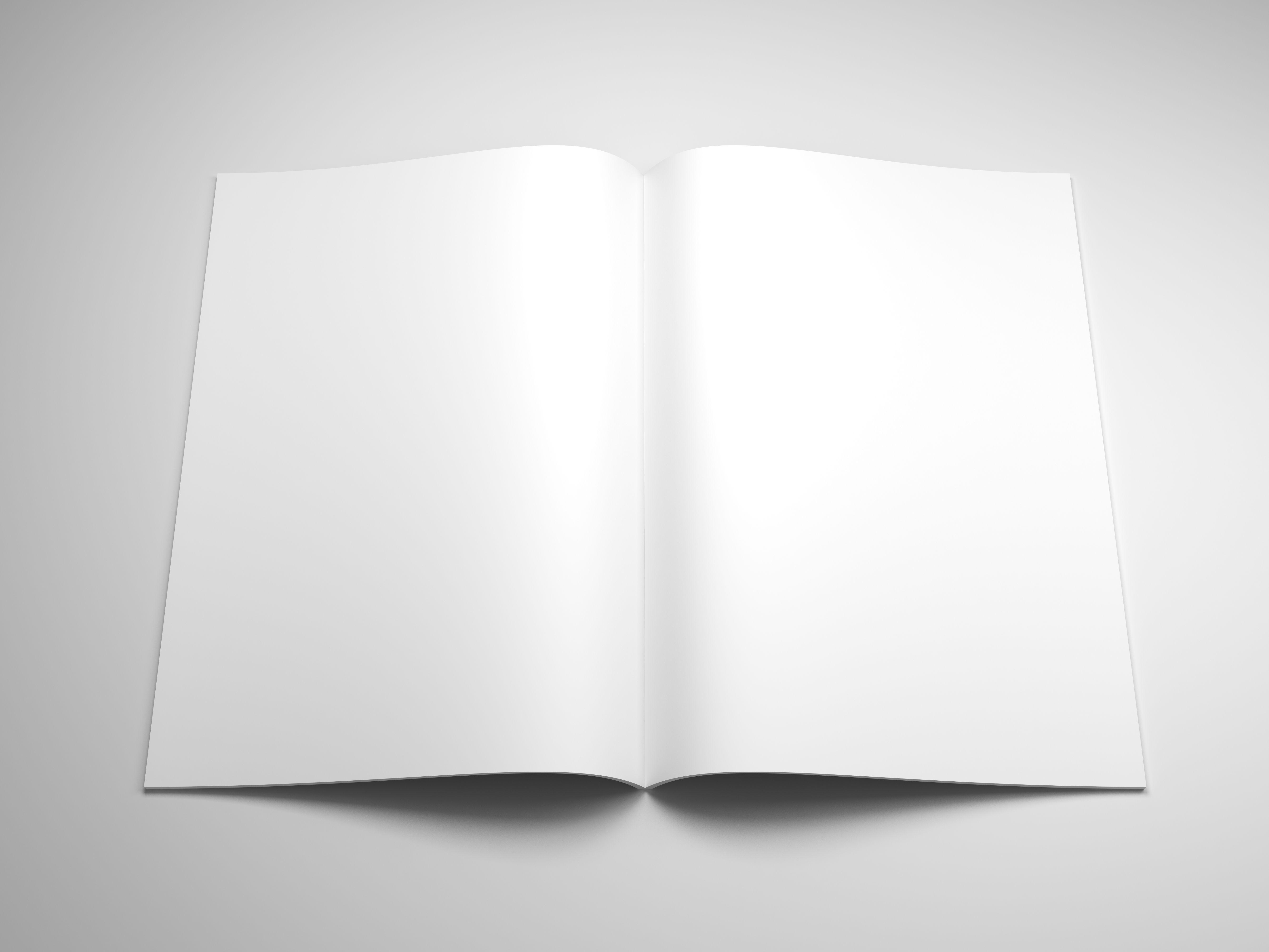 Blank magazine cover psd