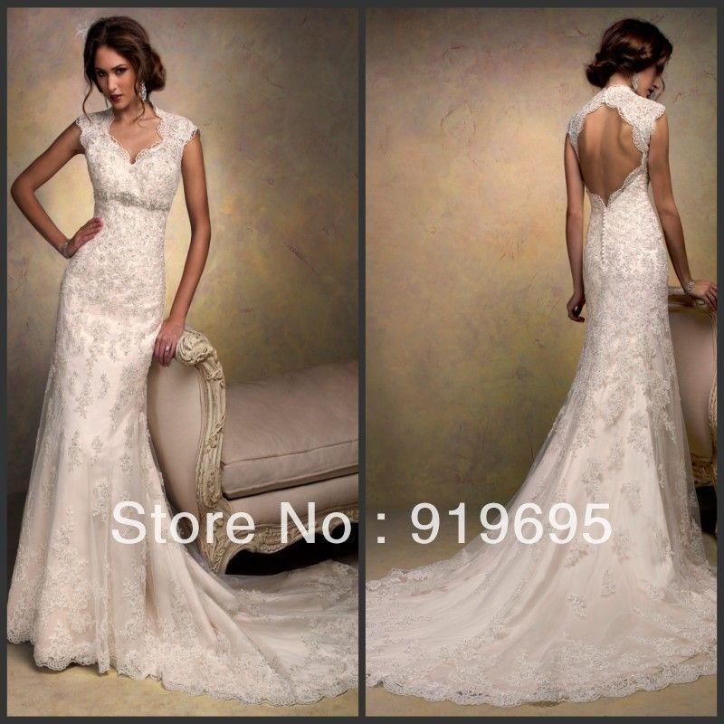 Image result for wedding dress - trumpet lace detailed back ...
