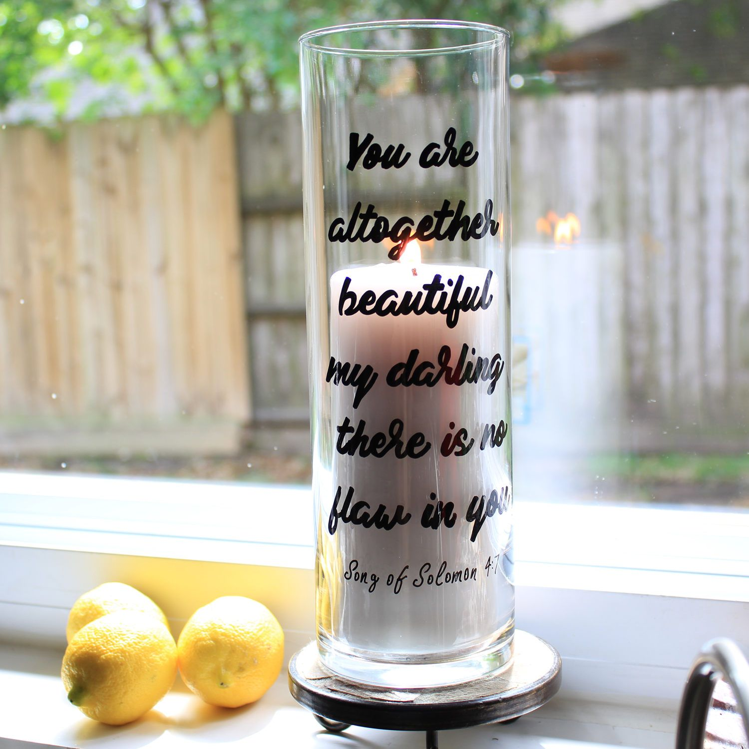 Christian Gifts For Women Flower Vase Candle Holder Song Of Songs Bible Verse Religious Gift Anniversary Birthday Her By