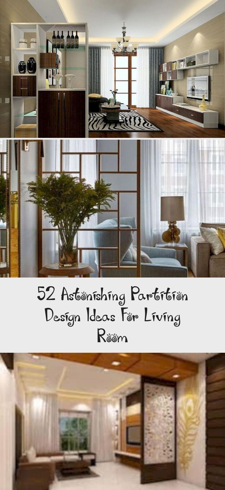 Awesome 52 Astonishing Partition Design Ideas For Living Room Moderninteriordesignbedr White Interior Design Modern Partition Design Apartment Interior Design