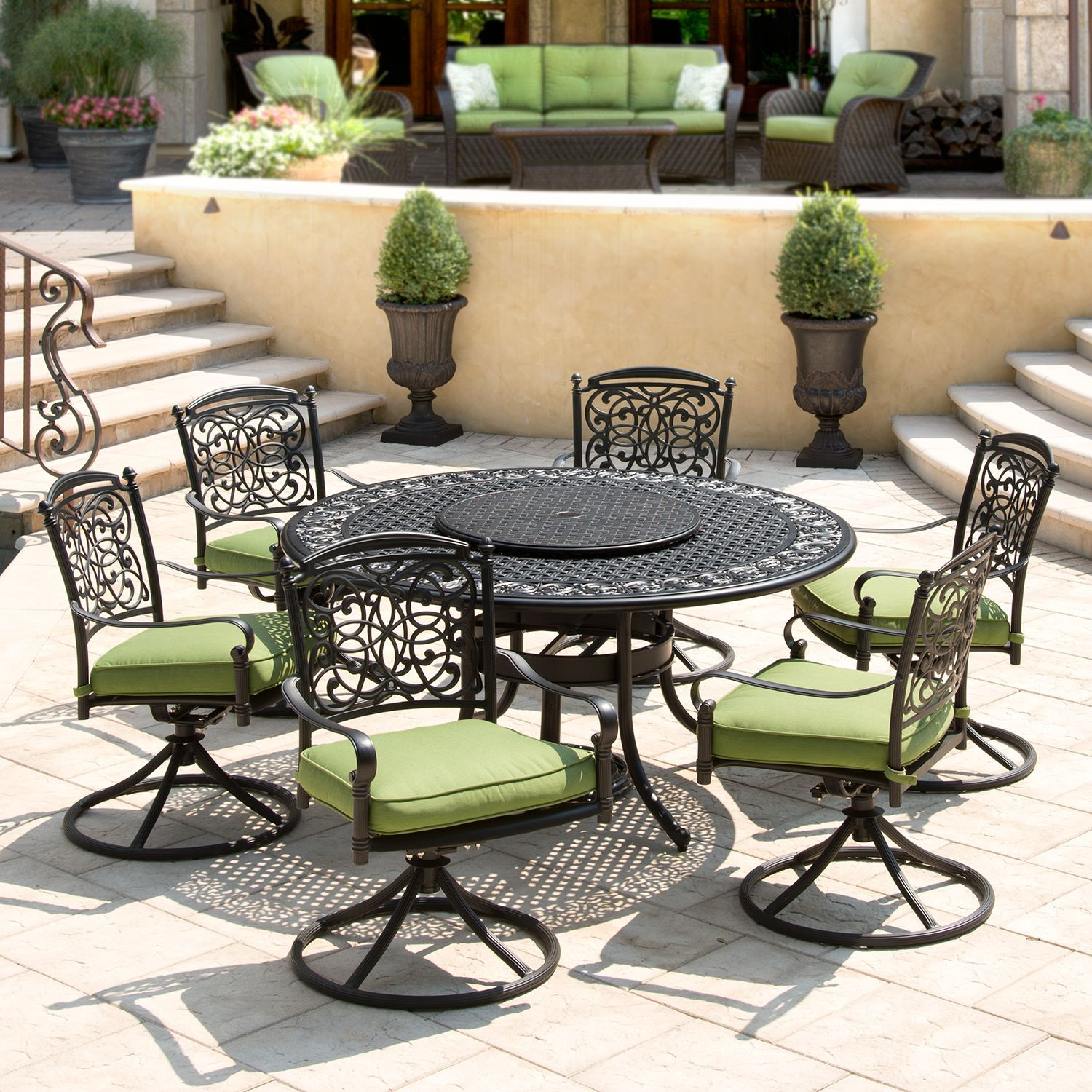Renaissance Outdoor Patio Dining Set   9 Pc