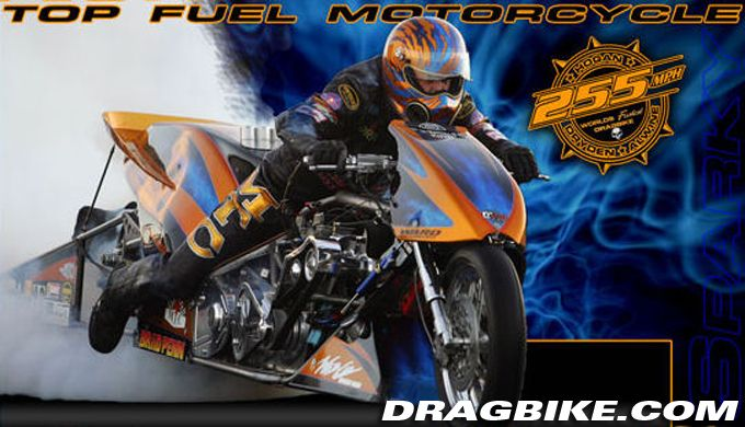 The Top Fuel Motorcycle Of Dryden Alwine Hogan Broke The Speed