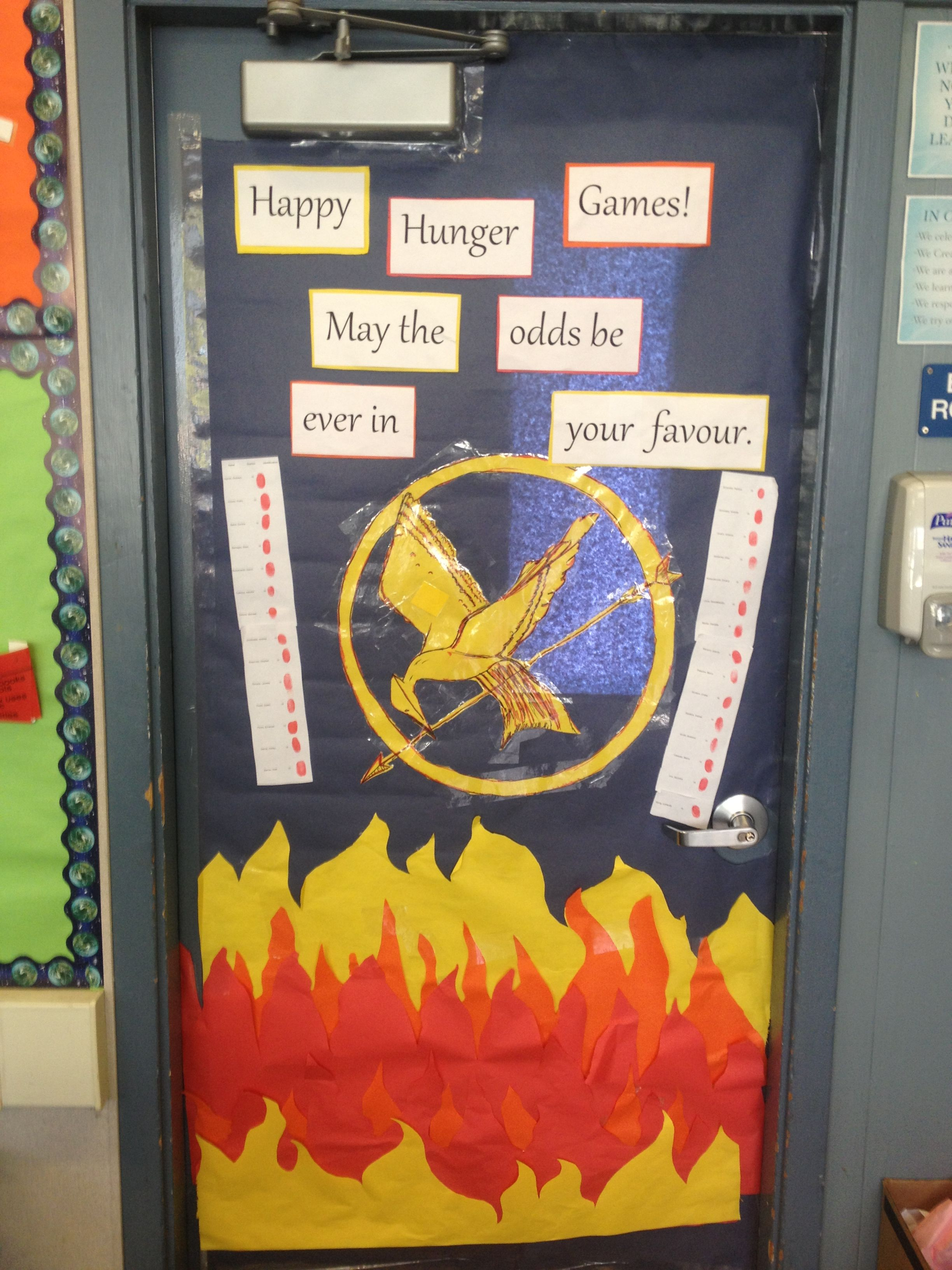 Literacy Week Door Decoration Hunger Games | Mold Testing ...