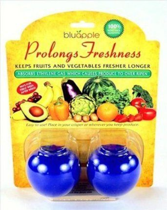 Bluapple Ethlylene Gas Absorbers - Starter Pack of 2 - Refrigerator Fruit & Vegetable Preserver - Blue Apple - Keep Produce Fresh Longer: Amazon.com: Grocery & Gourmet Food