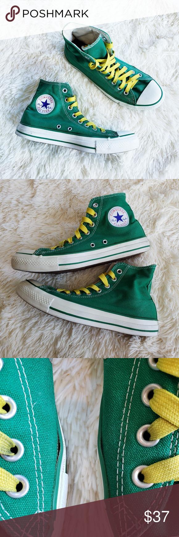 Converse | High Top Chucks Green Yellow