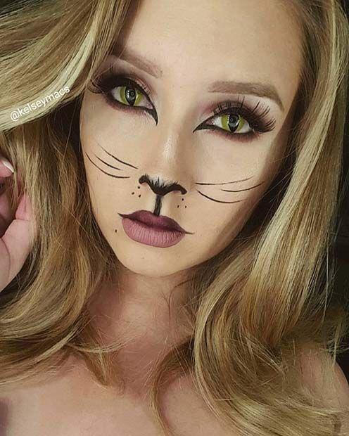 23 Pretty Halloween Makeup Ideas Halloween ( Pinterest - cat halloween makeup ideas
