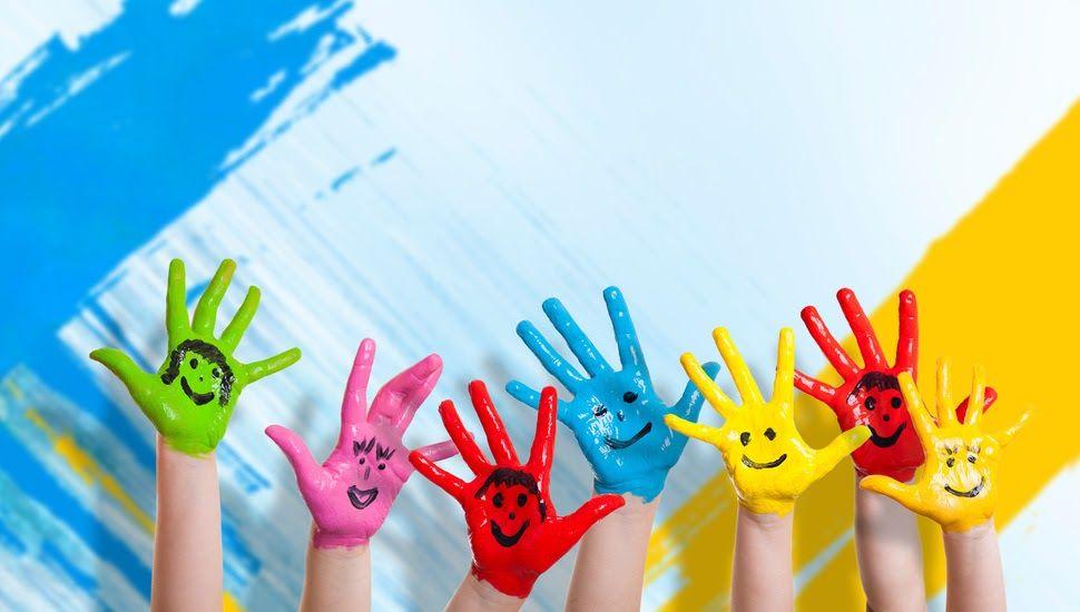 Children Mode Happiness Drawing Children Hands Smiles