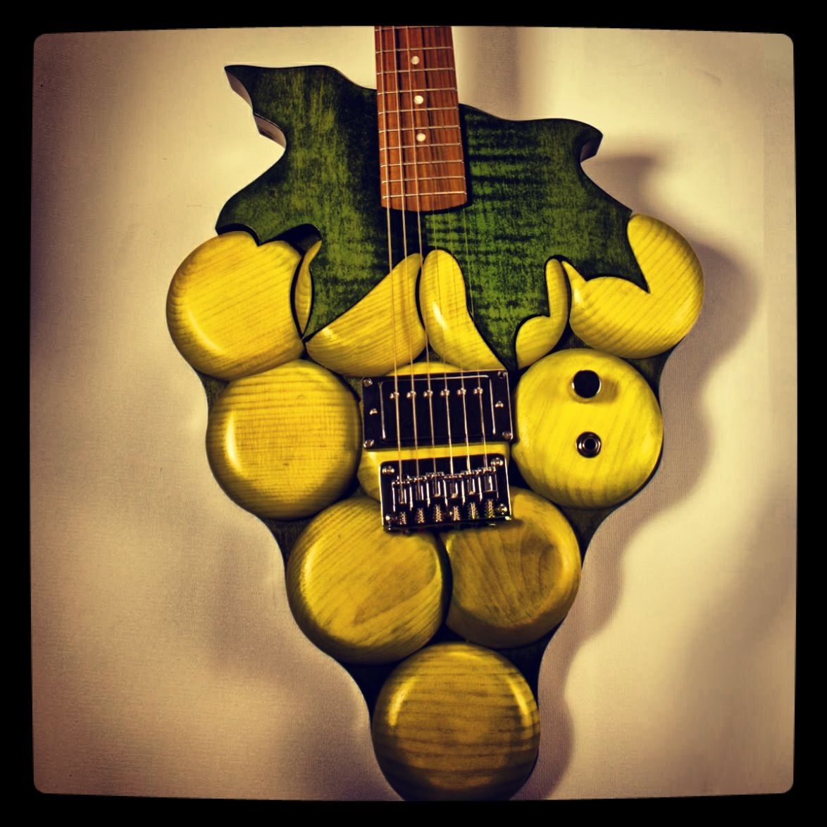 Custom Grape Guitar Follow: @Musical Harvest  www.musicalharvest.com  Custom guitar price quotes start at $1000. Email guitars@musicalharvest.com for your quote today.
