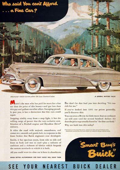 Buick Custom Delxue Tourback Sedan Vintage Ad Who Said You - Nearest buick dealer