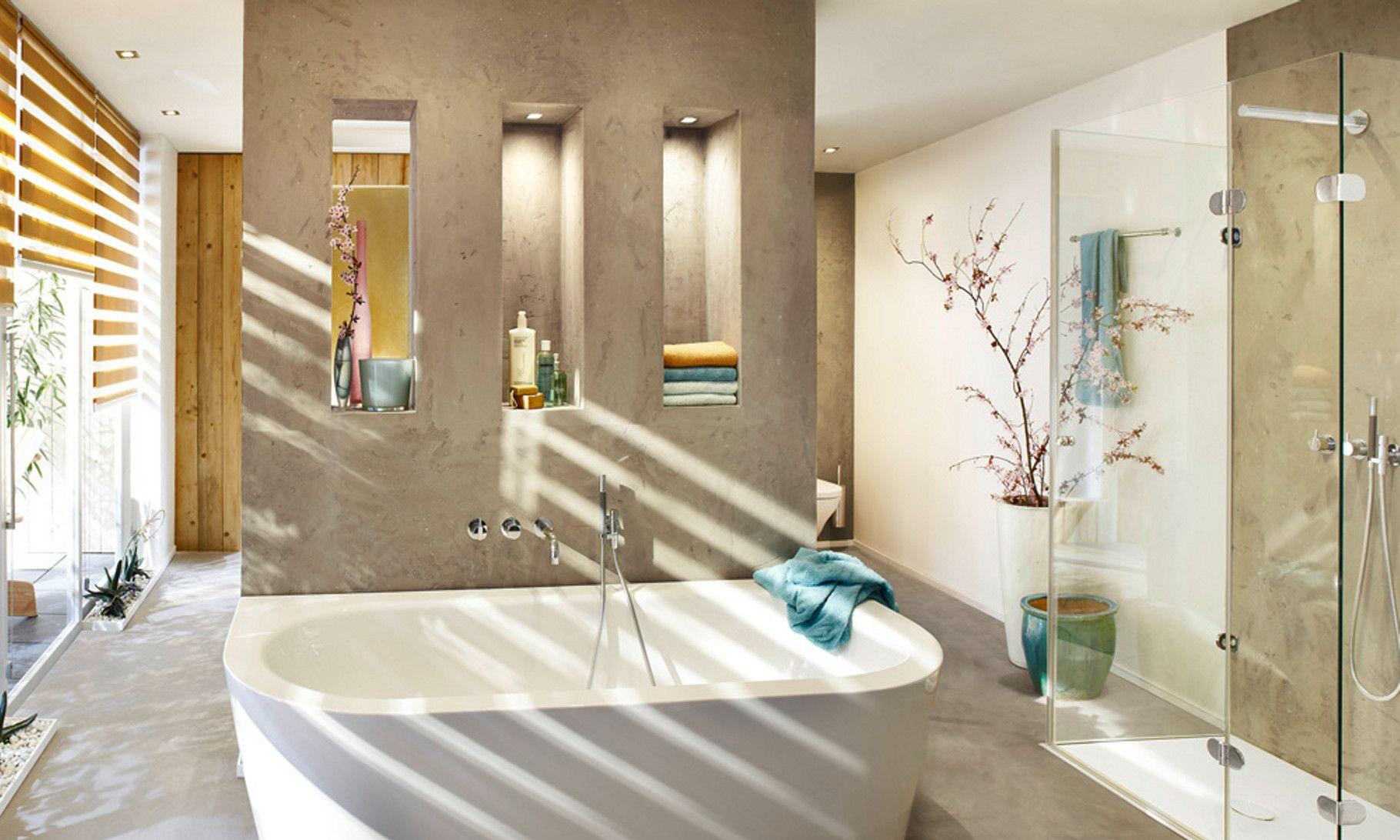 volimea exklusive oberfl chen und hochwertige w nde bad ohne fliesen fugenlose. Black Bedroom Furniture Sets. Home Design Ideas