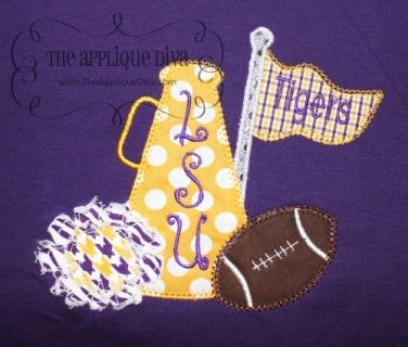 Cheer with Football Professional and Collegiate Applique Bodysuit, Shirt or Dress