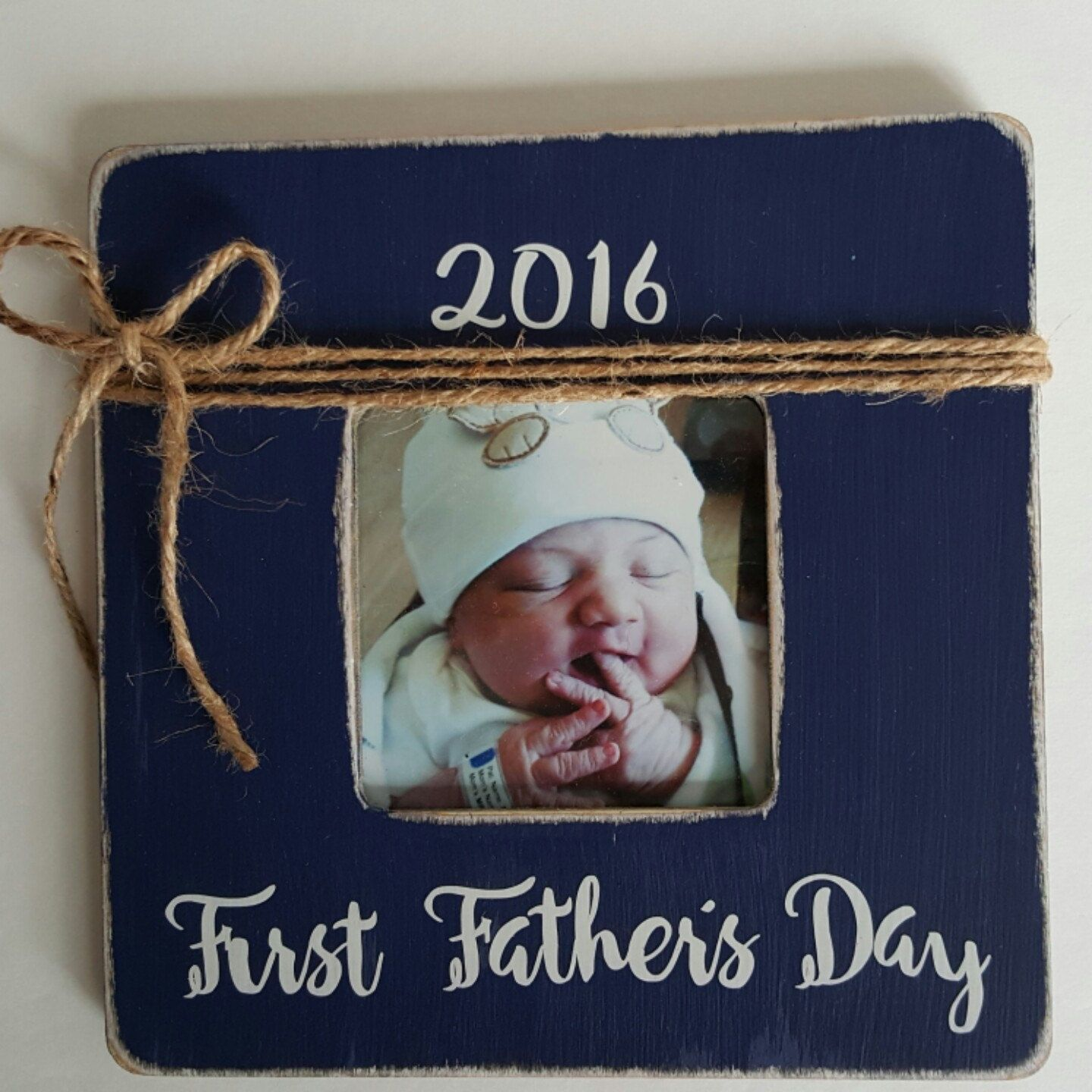 Daddys First Fathers Day Part - 32: First Fatheru0027s Day Frame, New Daddy Picture Frame, Navy Frame, Fatheru0027s Day  Photo Frame