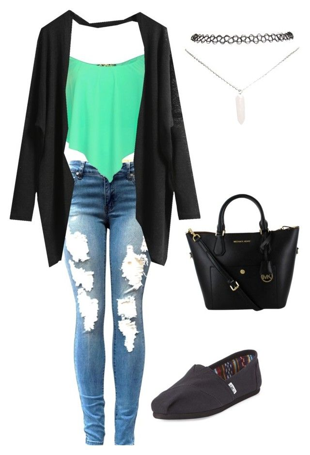 """Untitled #5"" by jordenschmidt on Polyvore featuring TOMS and Wet Seal"