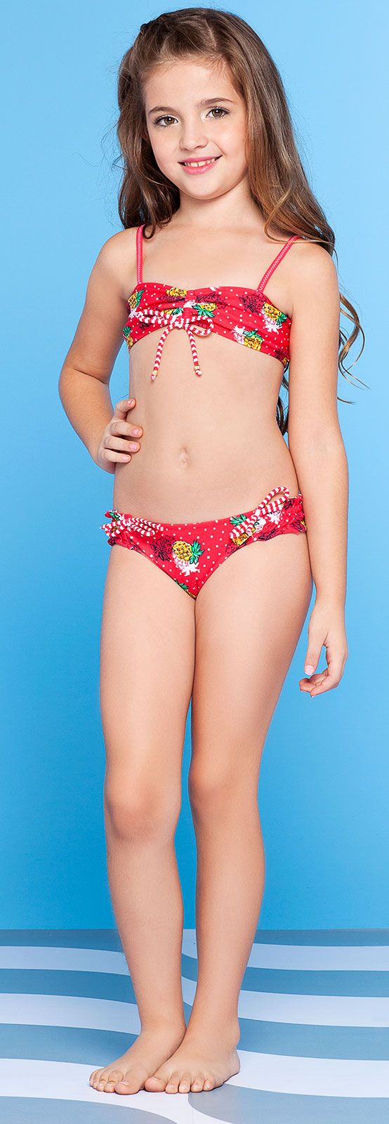 Girl S Red Two Piece Swimsuit Abacaxi Kids