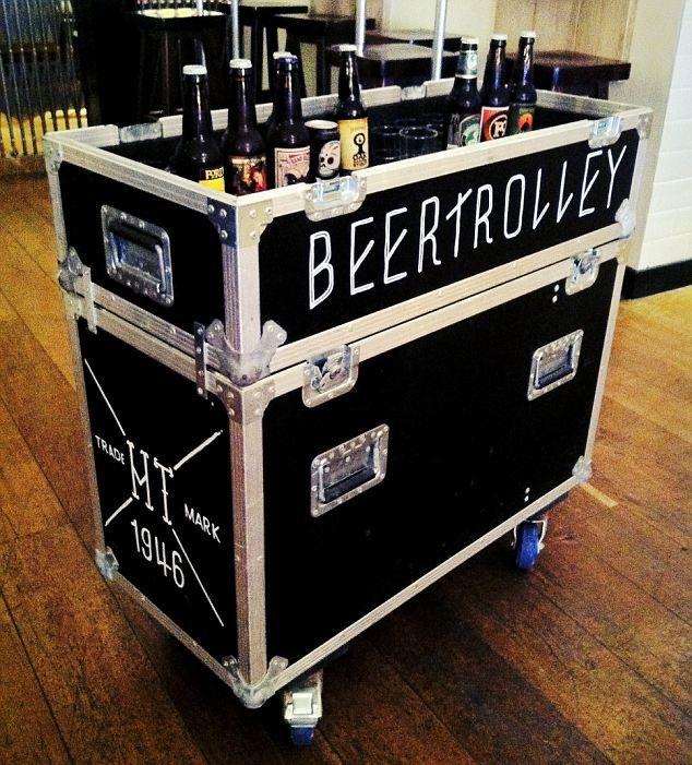 Flight Case Cooler Wine Bar Cabinet Larch Cladding Crate Storage