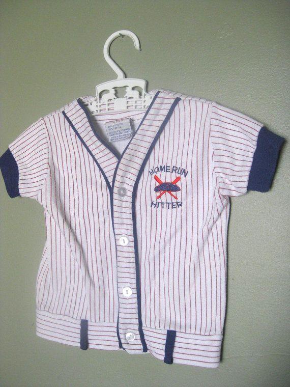 Vintage Baby BOY Baseball JERSEY Uniform Shirt -12M, by ...