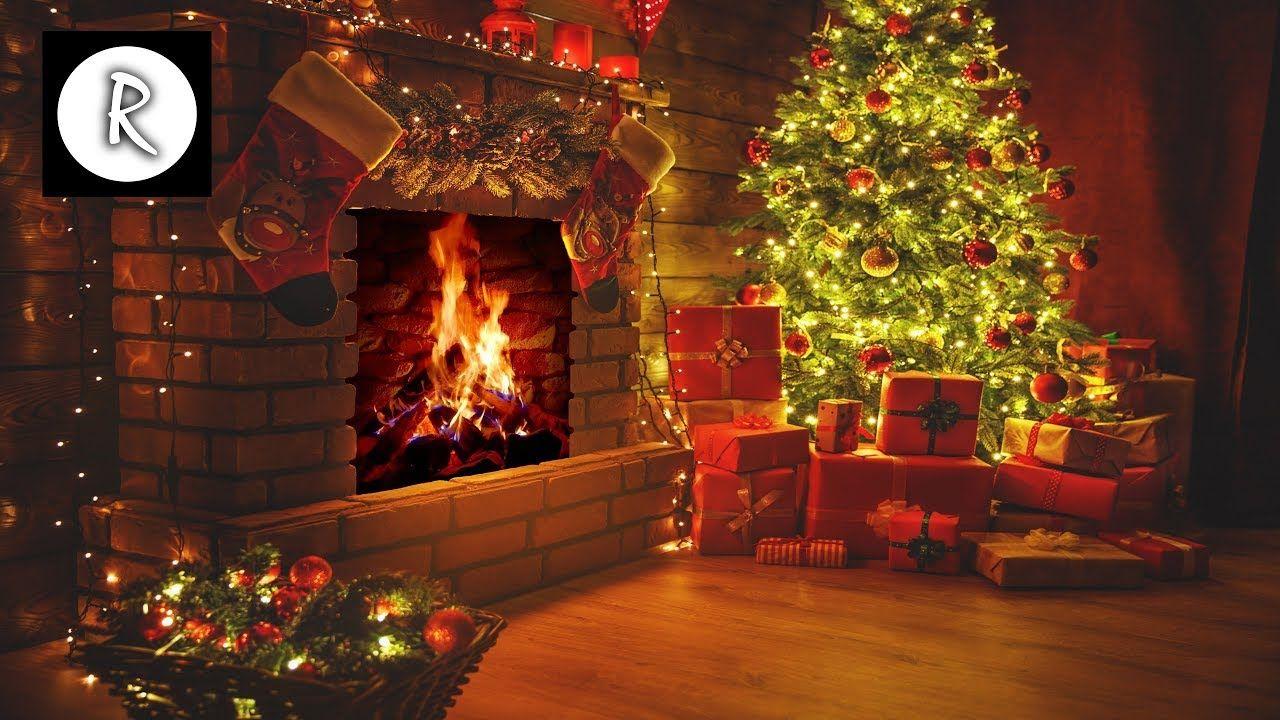 Beautiful Christmas Fireplace 4K w/ relaxing christmas