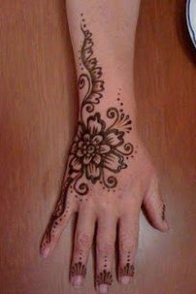 Hand flower henna | Henna | Pinterest | Flower henna and Hennas