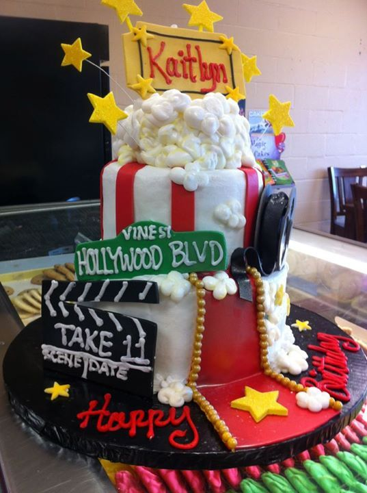 Hollywood Movie Night Birthday Cake