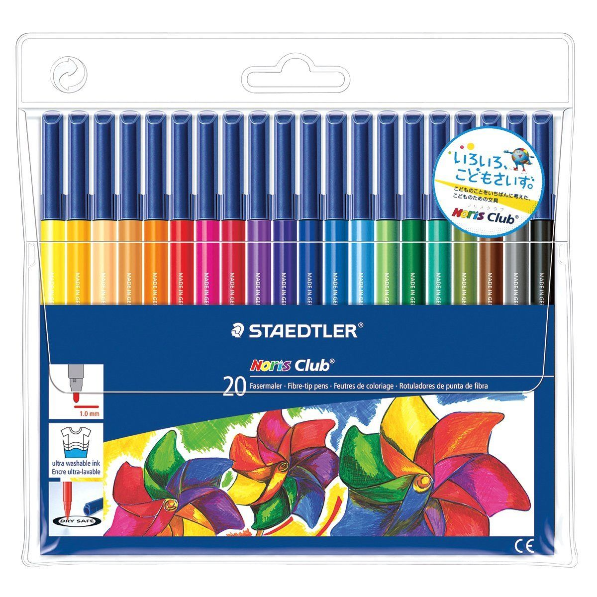 Buy Staedtler Noris Club 326 Wp20 Fibre Tip Pen In Wallet 20 Triplus Color Sb Assorted Colours At Amazon Uk Free Delivery On Eligible Orders