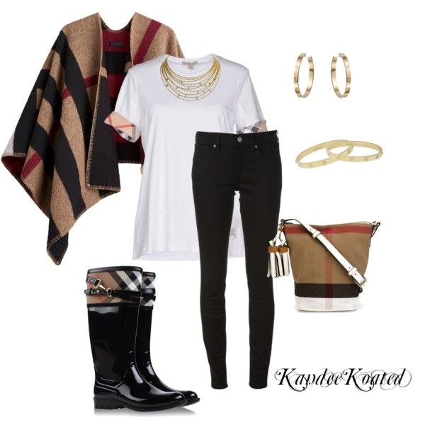 KandeeKoated by kandeegirl on Polyvore featuring polyvore fashion style Burberry Cartier