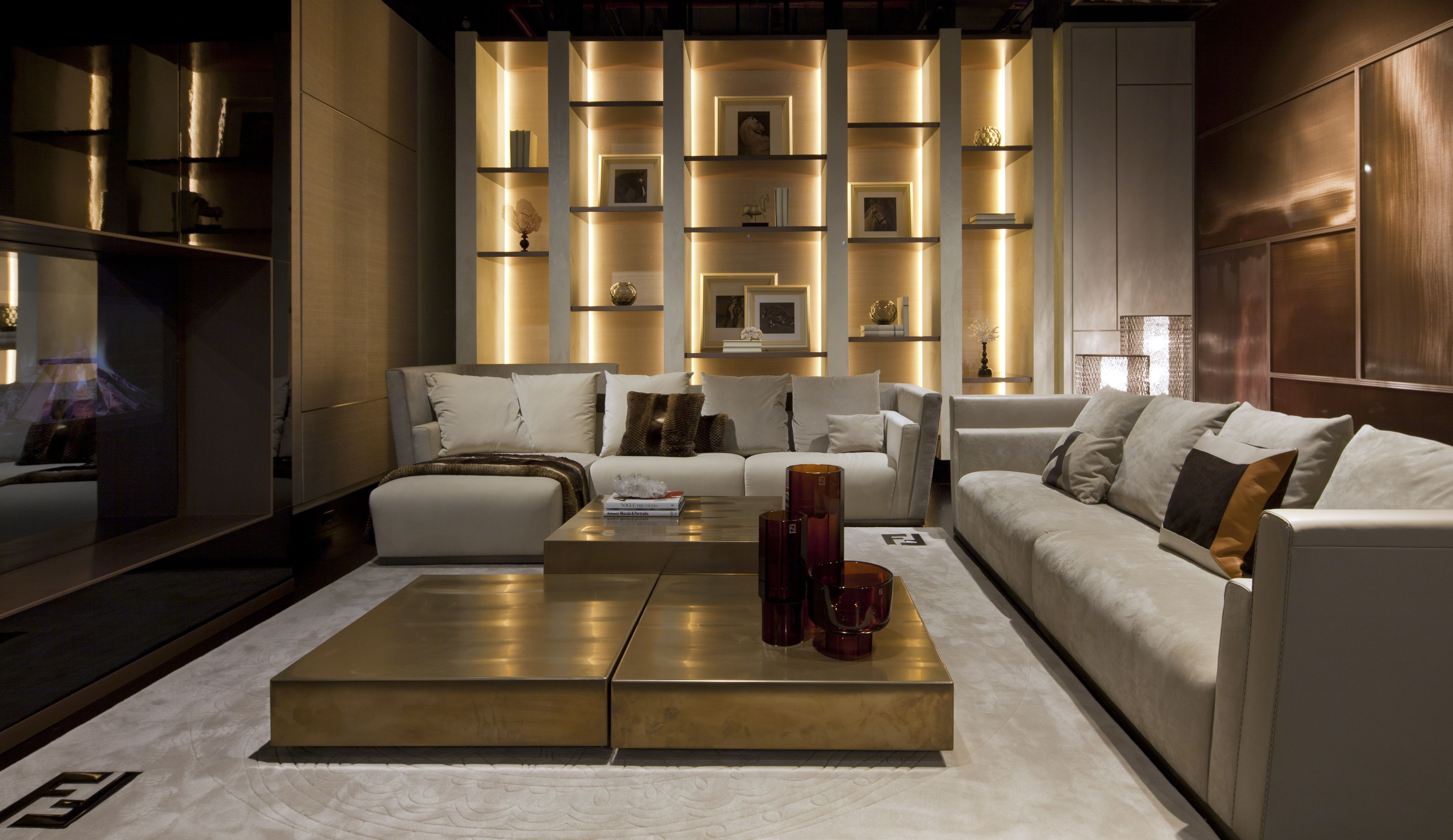 Fendi style living room furnitures luxury living home to for Home living room furniture