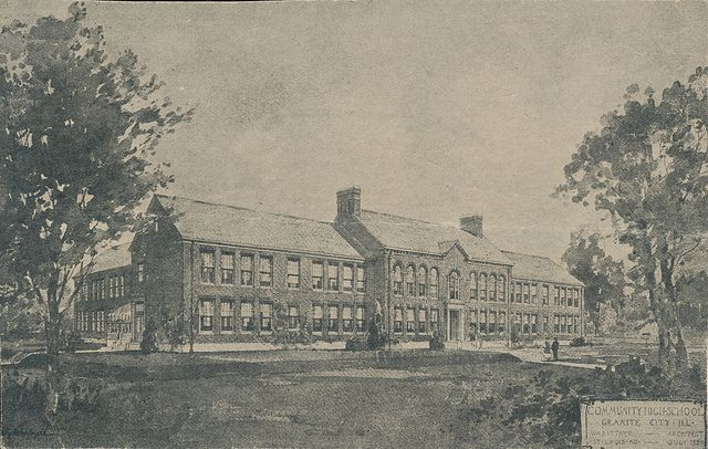 Granite City High School 1920 Granite City Local History City