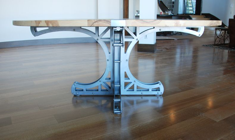 The Mini Truss Circular Dining Table System Uses Intersecting Trusses That  Reflect The Design Of