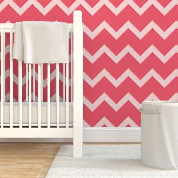 Pink Chevron Wallpaper - Pink Chevron by crystal_whitlow - Candy Cane Pink On Pink Pink Stripes Wal