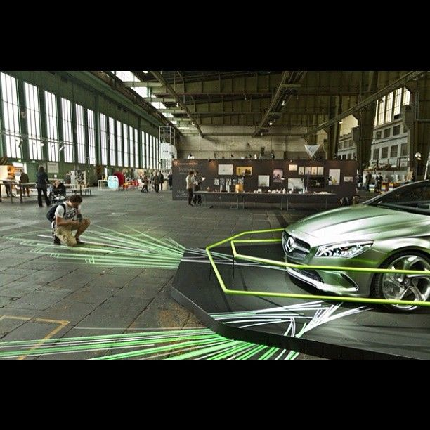 The Mercedes Concept Style Coupé inspired tape artist TAPE OVER to create an installation at the DMY International Design Festival in Berlin