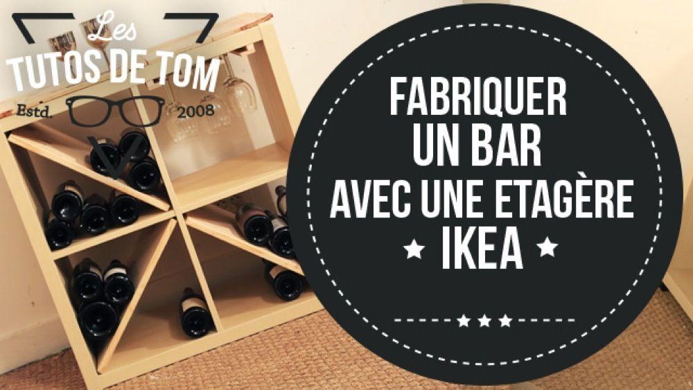 DIY  Fabriquer un bar avec une étagère Ikea Bar