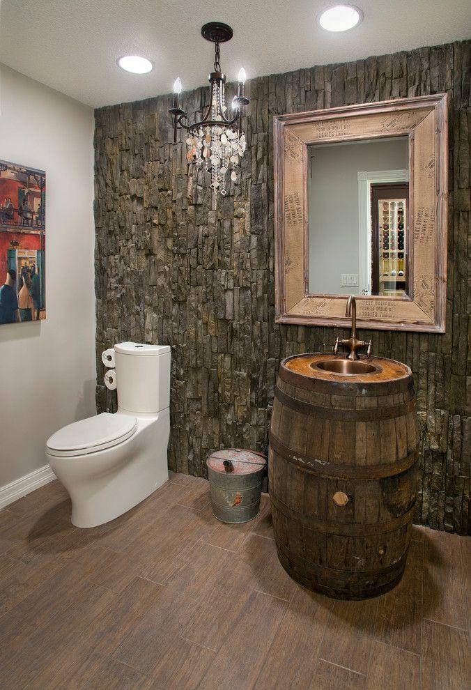 Wine Barrel Furniture Ideas You Can DIY Or BUY PHOTOS - Wine barrel bathroom vanity for bathroom decor ideas