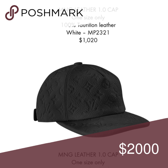 584f081b6 Louis Vuitton x Virgil Abloh black leather hat Leather louis vuitton hat  with LV logo. New virgil abloh creation. This hat is fully reserved and i  am ...