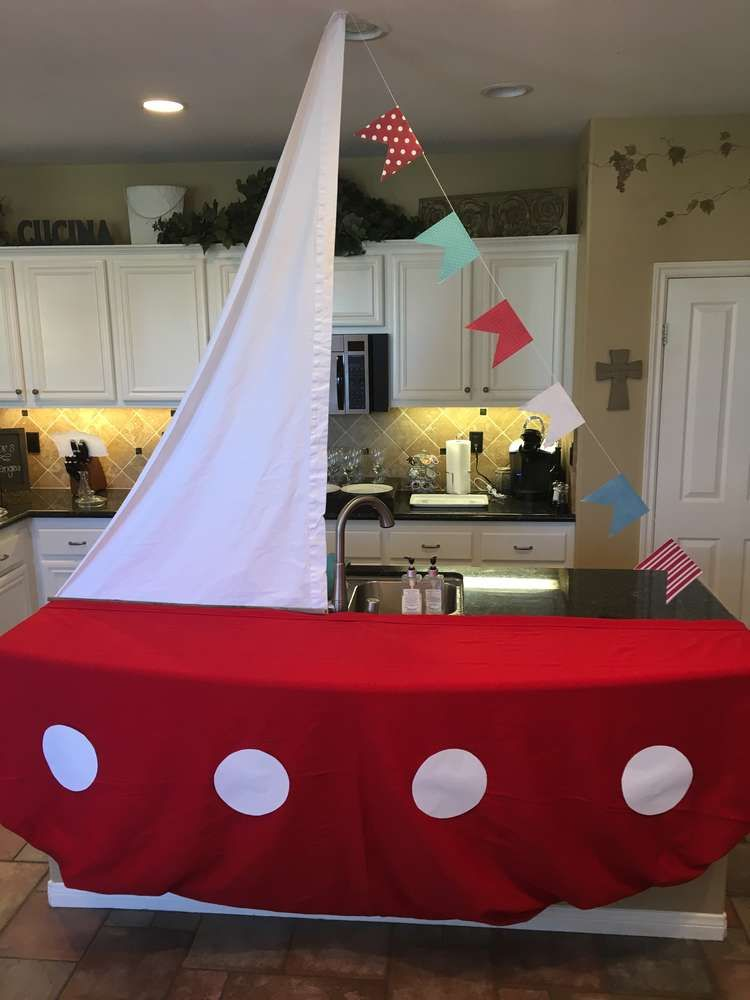 nautical baby shower party ideas sailing boat dessert table and boating. Black Bedroom Furniture Sets. Home Design Ideas
