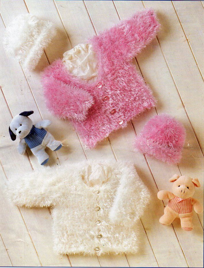 Baby furry jackets hat knitting pattern pdf dk eyelash yarn baby furry jackets hat knitting pattern pdf dk eyelash yarn premature baby furry cardigans vintage 12 dt1010fo