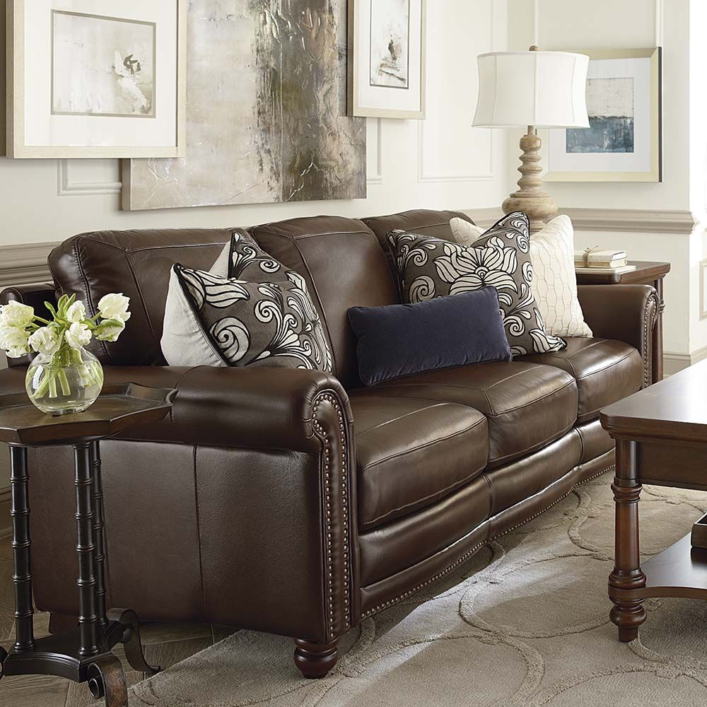 Best Love This Brown Leather Couch Home Decor Pinterest Brown Leather Brown And Leather 400 x 300
