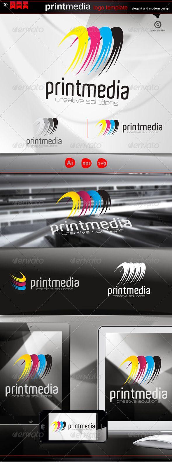 Print media logos logo templates and template print media pronofoot35fo Choice Image