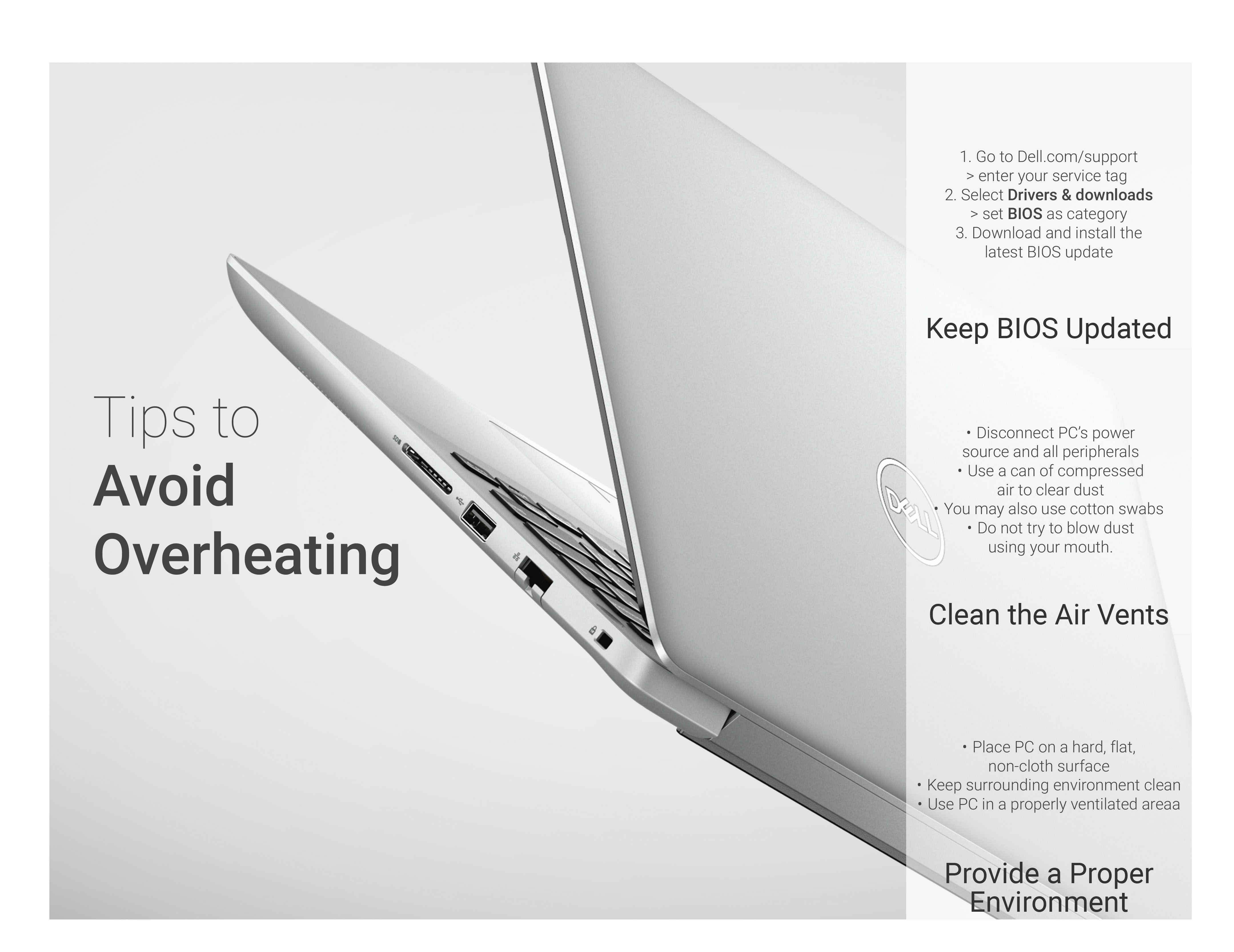 Overheating your #Dell laptop can cause hardware failures or other